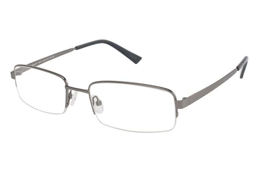 TITANflex M872 Eyeglasses in LIGHT MATTE GUN W/GRY TIPS (GUN)