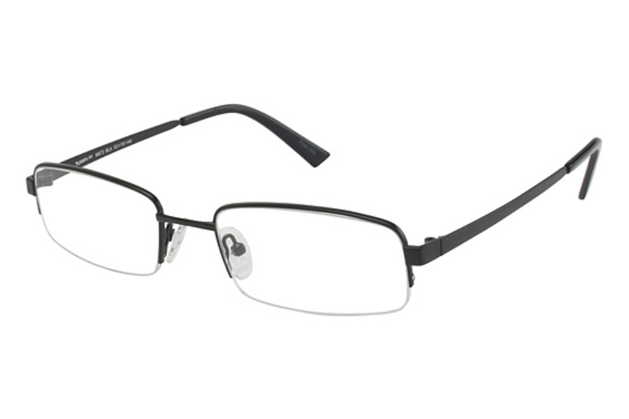 TITANflex M872 Eyeglasses in SEMI MATTE BLACK W/BLK TIPS (BLK)