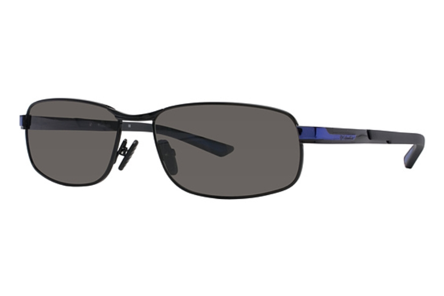 Columbia Bryce Sunglasses in C02 Shiny Black/Oxide Blue