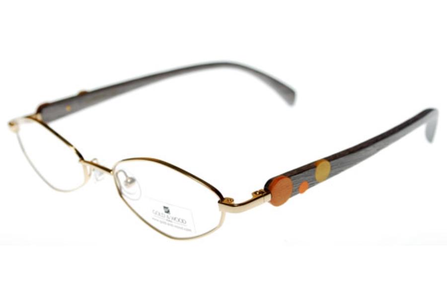 gold wood 400 6 eyeglasses free shipping go optic