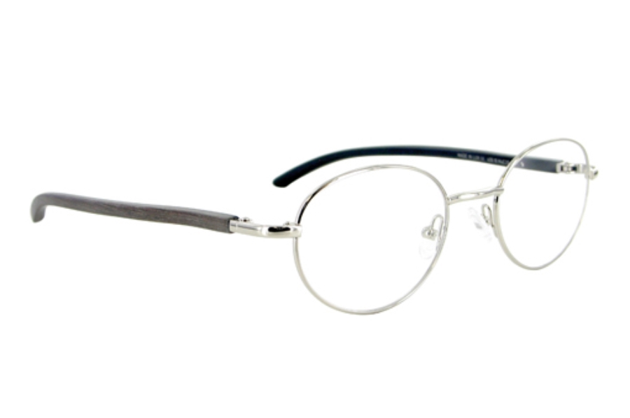 Gold & Wood 409-16-MuE26 Eyeglasses in Gold & Wood 409-16-MuE26 Eyeglasses