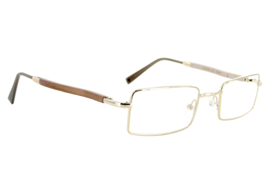 Gold & Wood 410-6-DoSa6 Eyeglasses in Gold & Wood 410-6-DoSa6 Eyeglasses