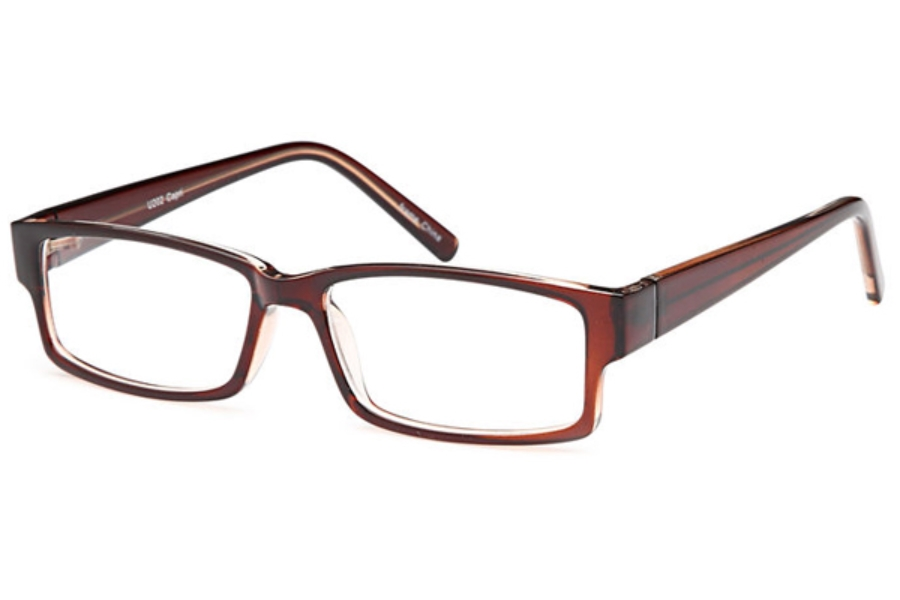 4U U 202 Eyeglasses in Brown