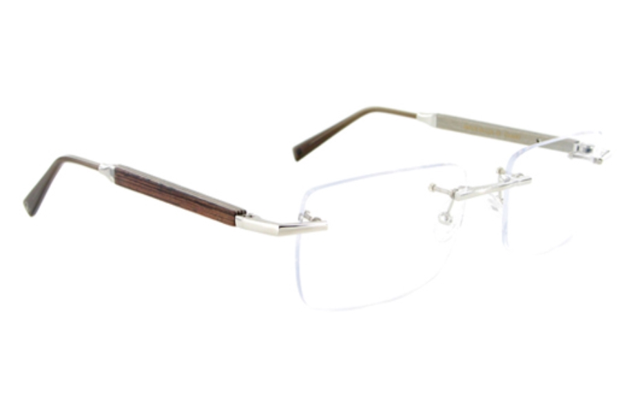 Gold & Wood A19-16-CrAl42 Eyeglasses in Palladium - Aluminium / Carob