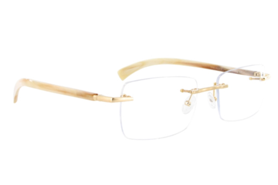 Gold & Wood A19-75-CB53 Eyeglasses in Gold & Wood A19-75-CB53 Eyeglasses