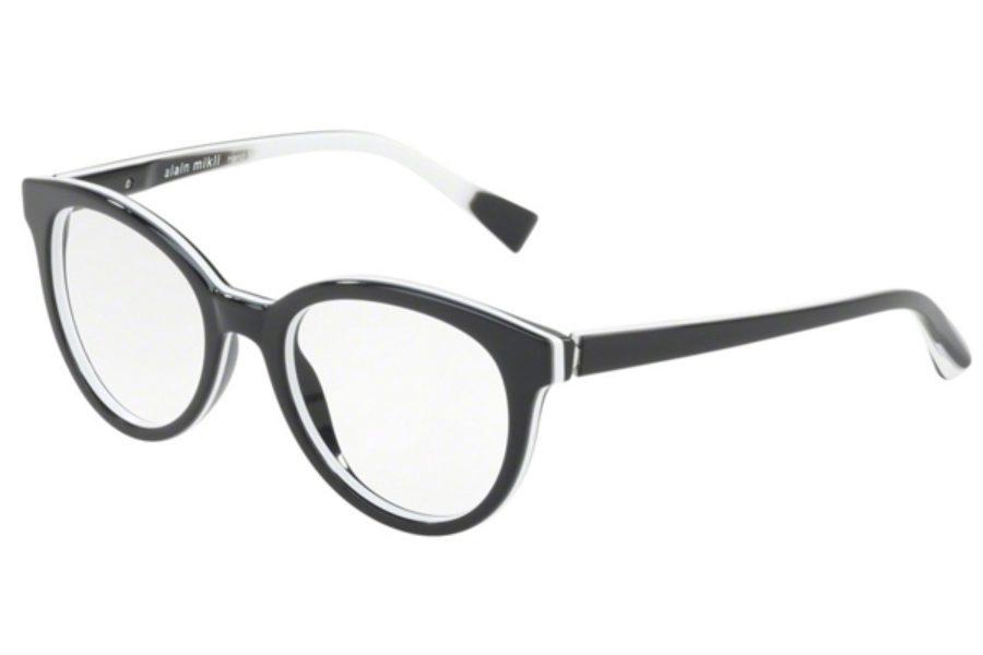 Alain Mikli A03070 Eyeglasses in 001 BLACK/WHITE