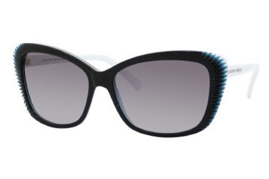 Alexander McQueen 4178/S Sunglasses in 0VZ0 Black White Blue (DX dark gray shaded lens)