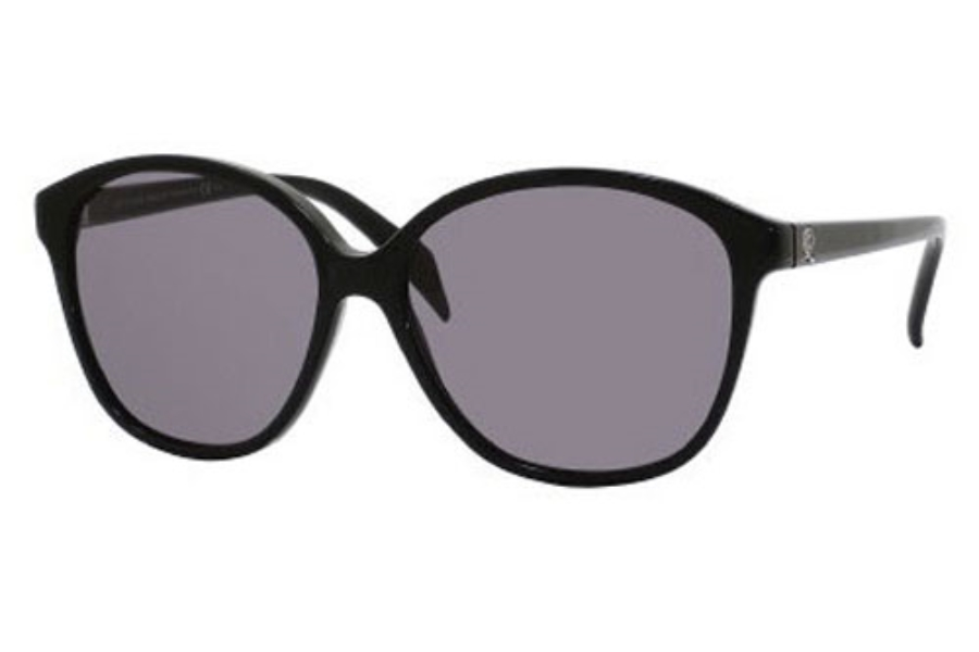 Alexander McQueen 4170/S Sunglasses in 0807 Black (BN dark gray lens)