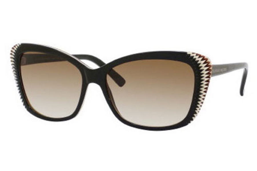 Alexander McQueen 4178/S Sunglasses in 0RCQ Brown Cream Black (CC brown gradient lens)