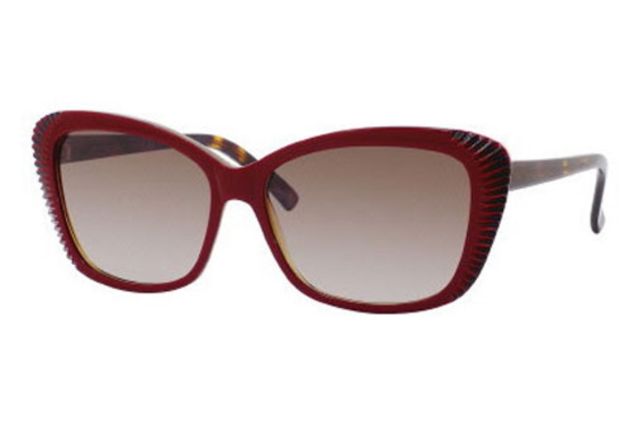 Alexander McQueen 4178/S Sunglasses in 0W0E Burgundy Blue Yellow (HA brown gradient lens)