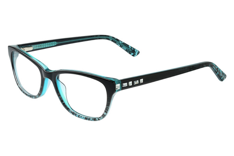 Bebe BB5142 Wholesome Eyeglasses in 400 Teal Lace