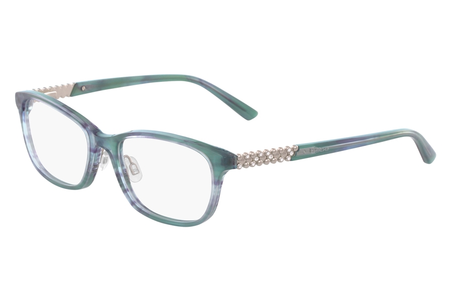 Bebe BB5154 Eyeglasses in 400 Teal Horn