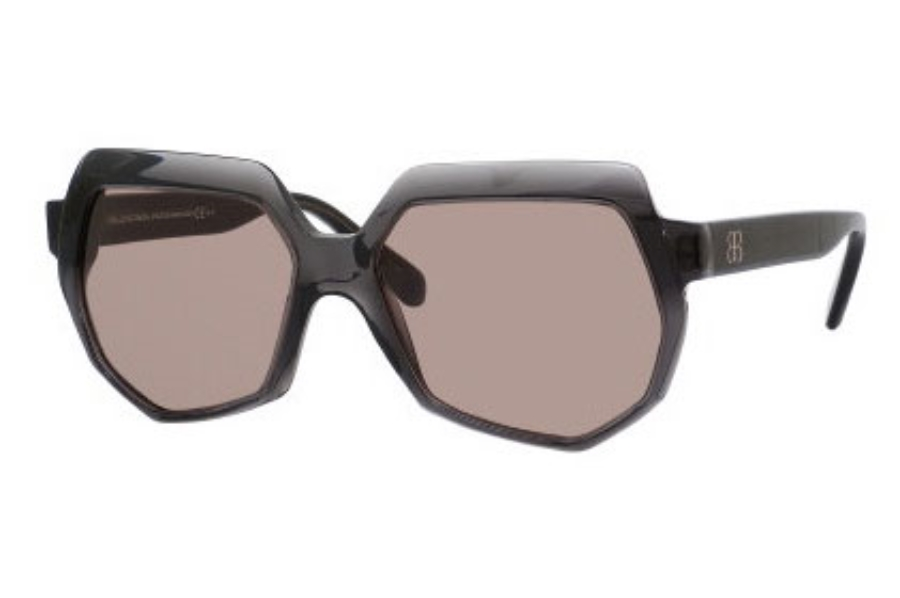 Balenciaga 0105/S Sunglasses in 04PY Dark Gray (5V brown lens)