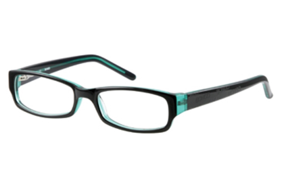 Bongo B SATIN Eyeglasses in Black Green