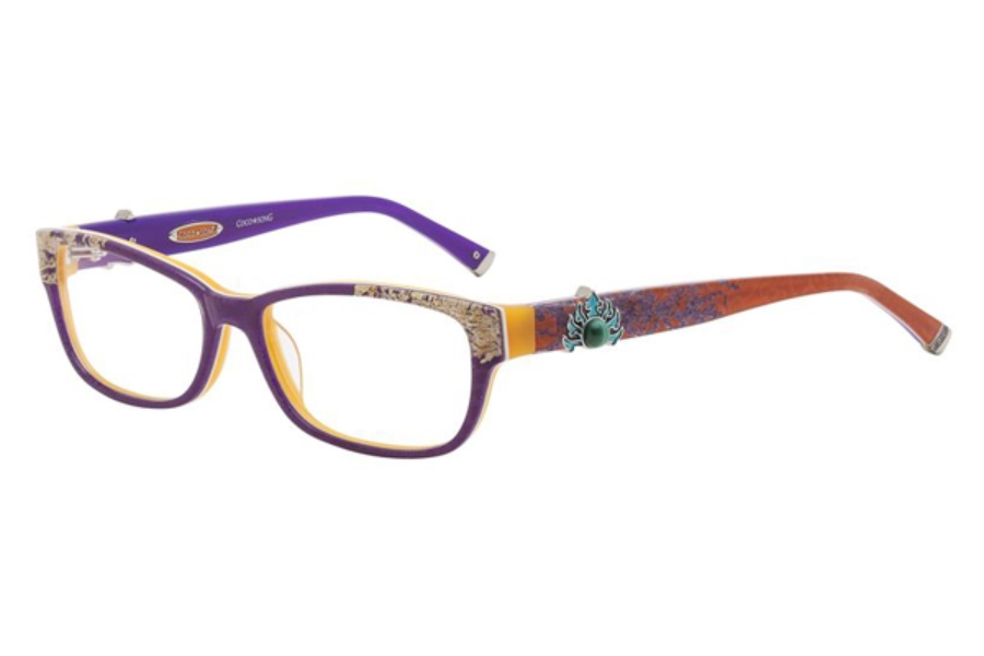 Coco Song CRAZY RED Eyeglasses in 02 Violet/Orange