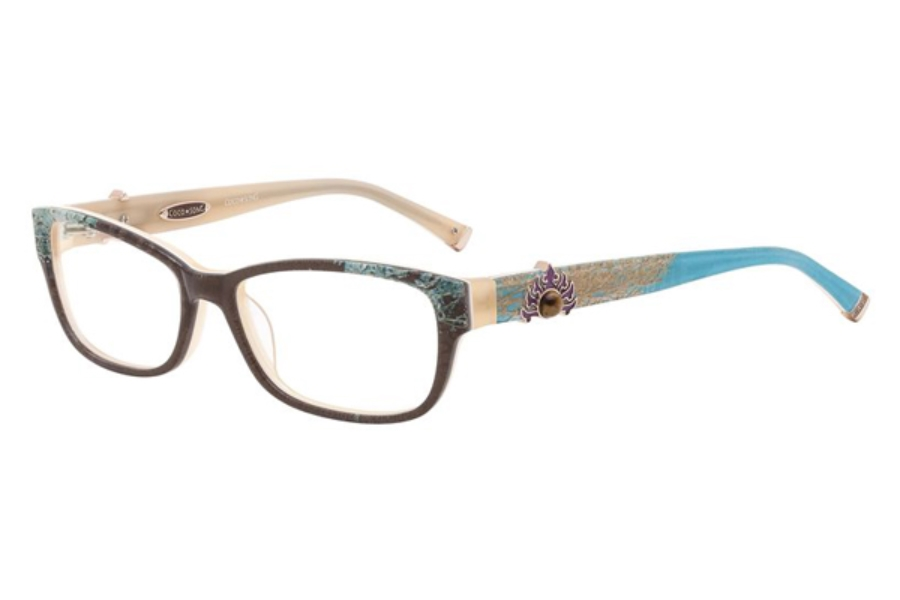 Coco Song CRAZY RED Eyeglasses in 03 Brown/Turquoise