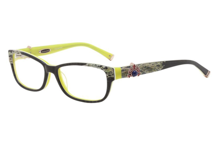 Coco Song CRAZY RED Eyeglasses in 04 Black/Green