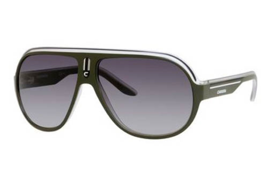 Carrera SPEEDWAY/S Sunglasses in 093E Green Crystal Black (Z9 Green Multilaye Lens)