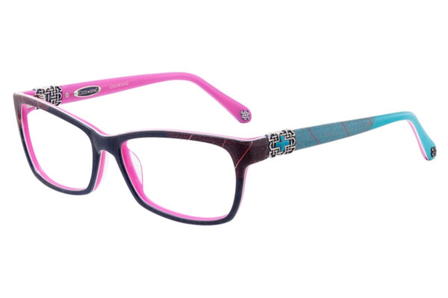 Coco Song Get Blue Eyeglasses | FREE Shipping - Go-Optic.com