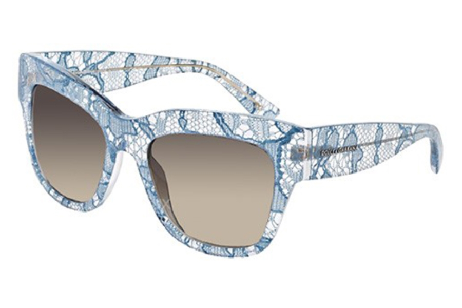 Dolce & Gabbana DG 4231 Sunglasses in 285313 Azure Lace Brown Gradient