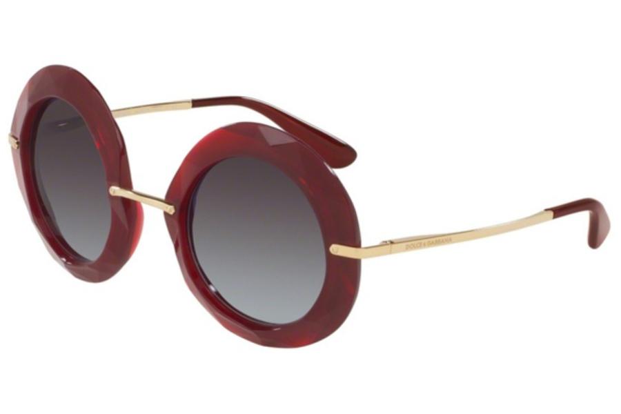 Dolce and Gabbana DG6105 Sonnenbrille Magenta Gold Glitter 31057V 50mm VZyJXYwwN
