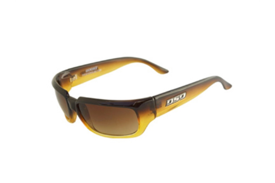 DSO Eyewear Boost Sunglasses in BT-9414G Brown to Amber Amber Gradient Lens