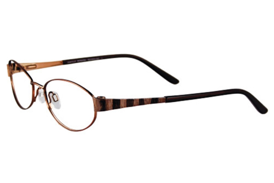 Easyclip EC123 w/ Magnetic Clip-On Eyeglasses in 10 Satin Bronze