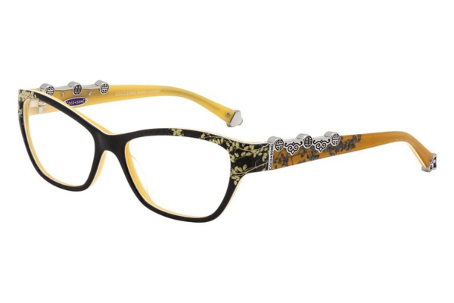 Coco Song FUNKY BLUE Eyeglasses in C2 Black/Yellow