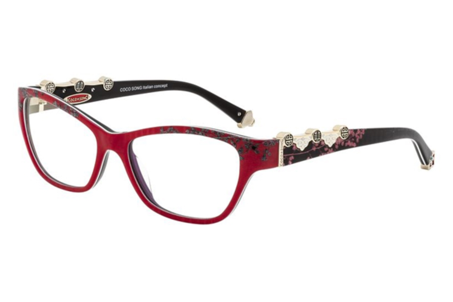 Coco Song FUNKY BLUE Eyeglasses in C3 Red/Black