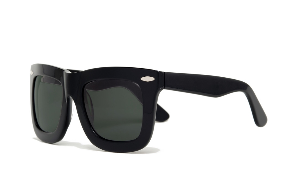 Grey Ant Status Sunglasses in Black leather