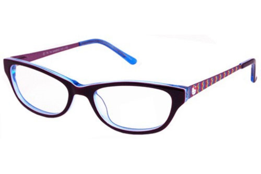 Hello Kitty HK 240 Eyeglasses in Burgundy