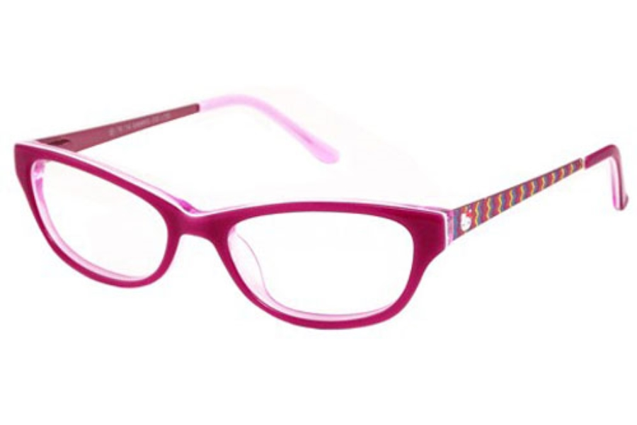 Hello Kitty HK 240 Eyeglasses in Pink Two Tone