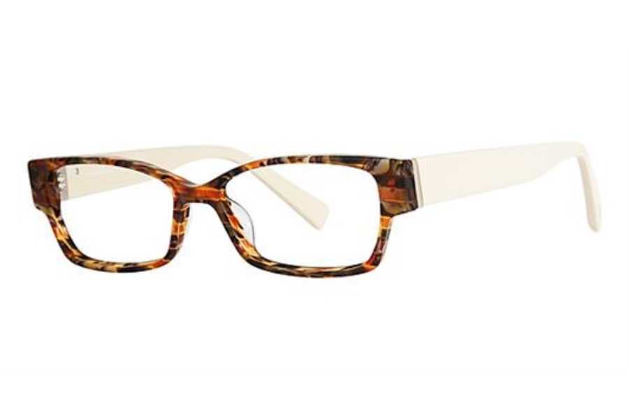 Seraphin by OGI HIAWATHA Eyeglasses in 8657 - BROWN MARBLE/CREAM