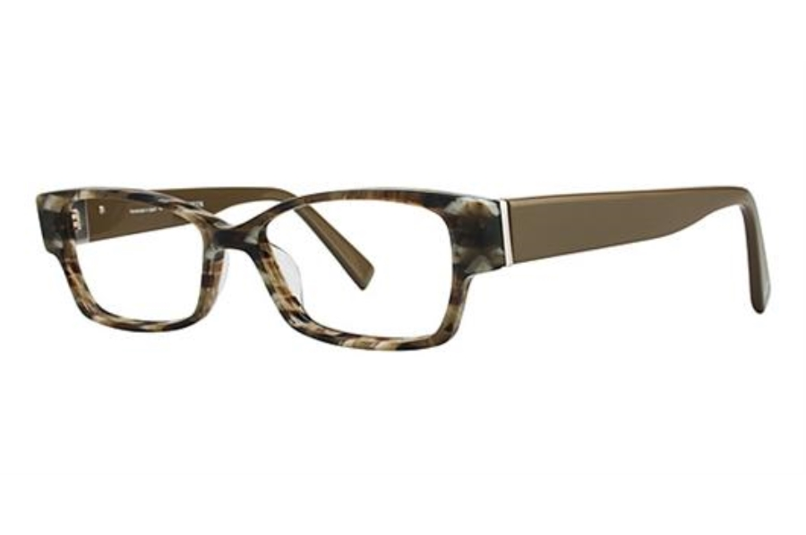 Seraphin by OGI HIAWATHA Eyeglasses in 8659 - OLIVE MARBLE/GREEN
