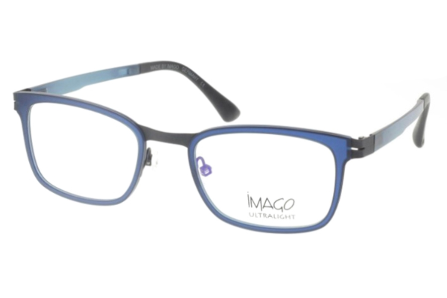 Imago Ultralight Proton Eyeglasses in Col. 19 Dark Teal/Dark Gun