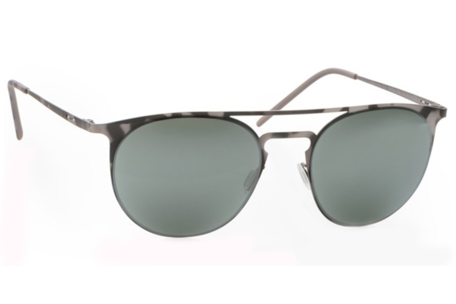 Italia Independent 0206 Sunglasses in 096 Havana Grey / Silver / Mirrored
