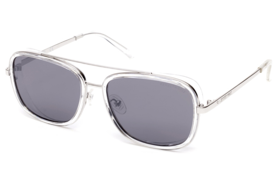 Kenneth Cole New York KC7221 Sunglasses in 26C - Crystal / Smoke Mirror