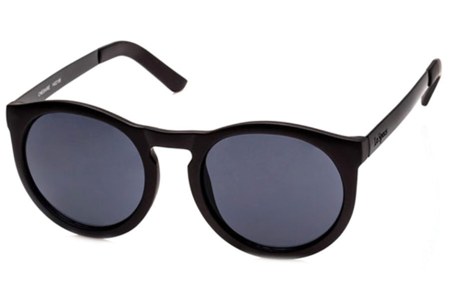 LeSpecs Cheshire Sunglasses in 1402188 Matte Iron Black/Smoke Mono
