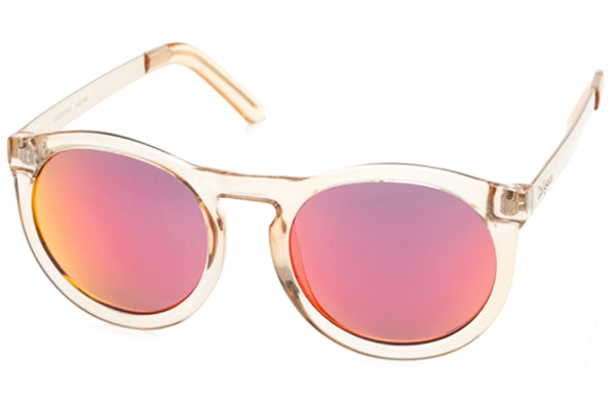 LeSpecs Cheshire Sunglasses in 1402189 Honey Gold/Red Revo Mirror