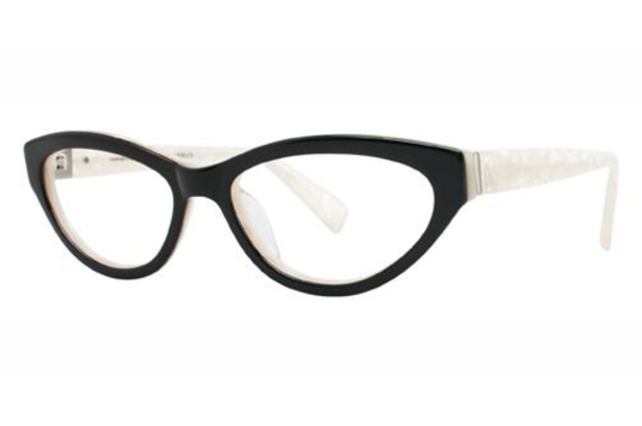 Seraphin by OGI LYNDALE Eyeglasses in 8602 - BLACK/WHITE MARBLE