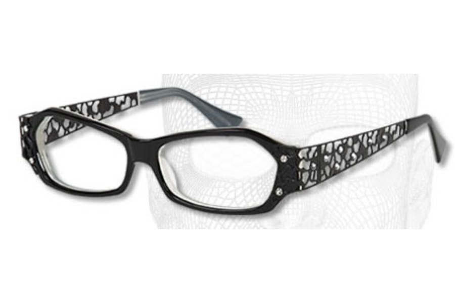 Mandalay Designer Edition Mandalay 7042 Eyeglasses in C2 Black/Cream