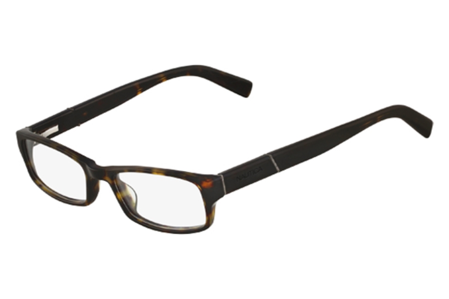 Nautica N8054 Eyeglasses in 214 Whiskey Horn