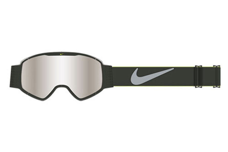 Nike MAZOT 1 EV0932 Goggles in 235 Matte Anthracite/Silver Ion