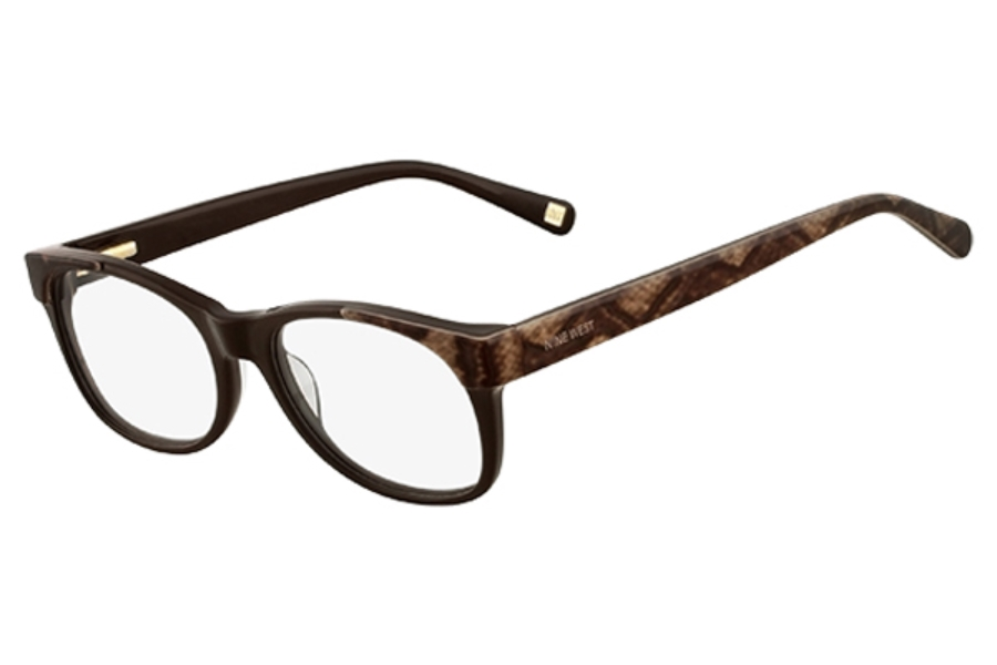 Nine West NW5036 Eyeglasses in 203 Dark Brown Lizard