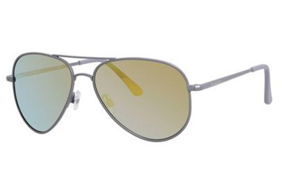 Polaroid P 4139/S Sunglasses in 00DT Gray Matte (LM gray gold mirror lens)