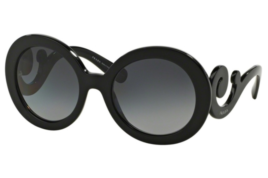 Prada PR 27NS Sunglasses in 1AB5W1 Black Polar Grey Gradient