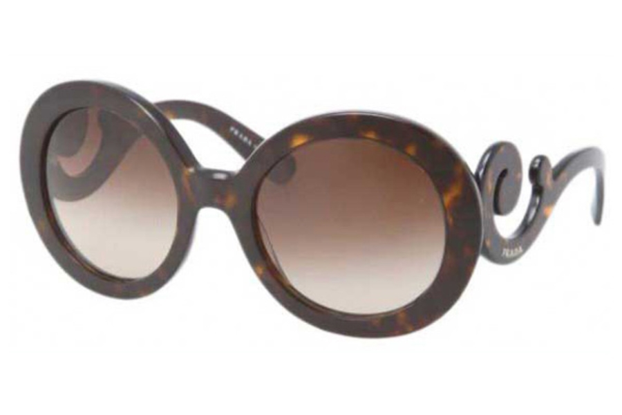 Prada PR 27NS Sunglasses in 2AU6S1 Havana Brown Gradient