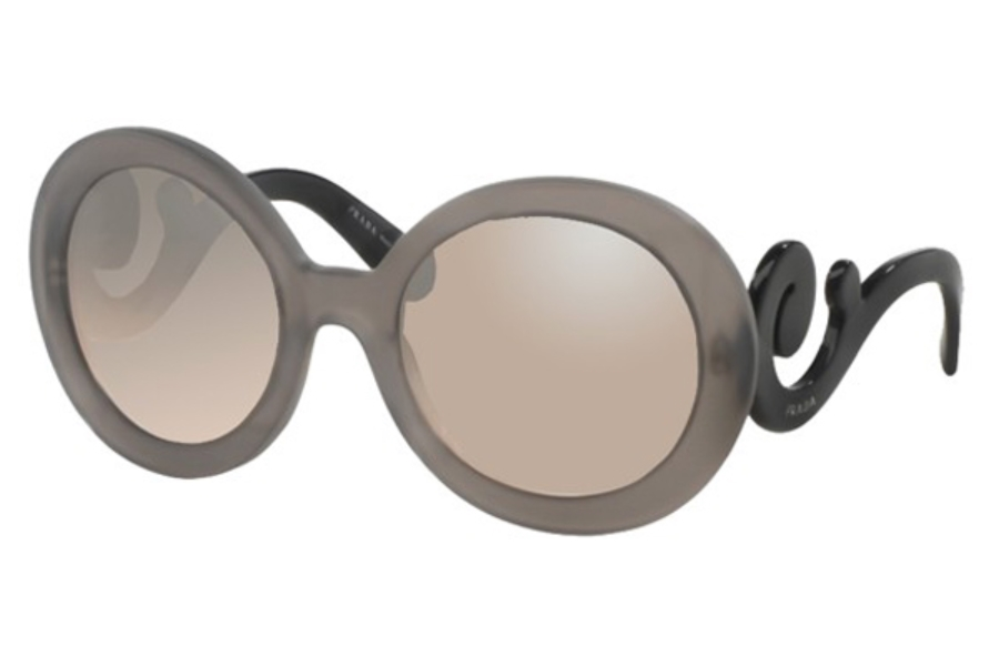 Prada PR 27NS Sunglasses in UBV4P0 Dark Grey Matte Transparent Lt Brown Grad Lt Grey Mirr Sil