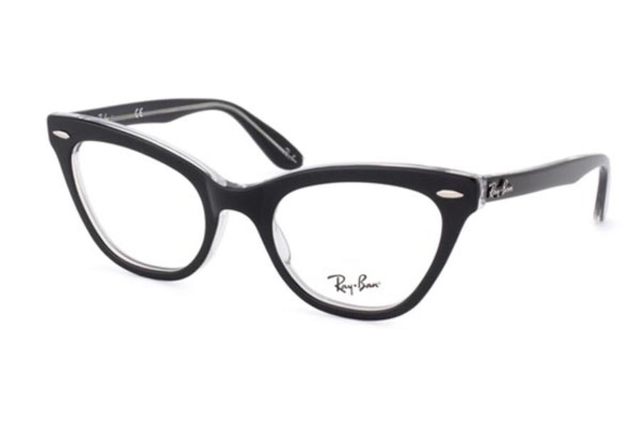 Ray-Ban RX 5226 Eyeglasses in 2034 Top Black on Transparent Demo Lens