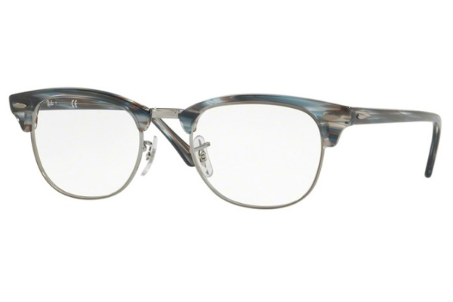 Ray-Ban RX 5154 Clubmaster Eyeglasses in 5750 Blue/Grey Stripped